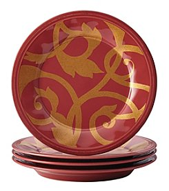Rachael Ray Gold Scroll Cranberry Red Collection