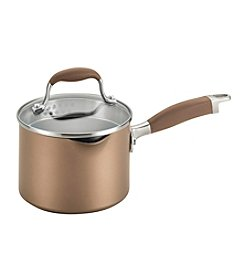 Anolon® Advanced 2-qt. Bronze Hard-Anodized Nonstick Covered Straining Saucepan with Pour Spouts