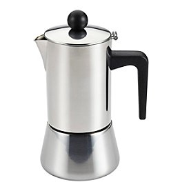 BonJour® Coffee & Tea Stainless Steel 4-Cup Stovetop Espresso Maker