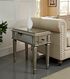 Powell® Donna Silver Mirrored Side Table