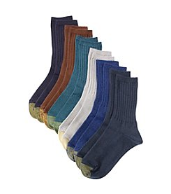 GOLD TOE® Ribbed Crew Socks - 6 Pair