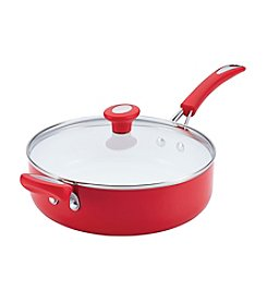 SilverStone Ceramic CXi 4-qt. Chili Red Nonstick Covered Sauté with Helper Handle