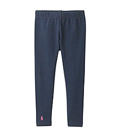 Polo Ralph Lauren® Girls' 2T-4T Stretch Cotton Jersey Leggings