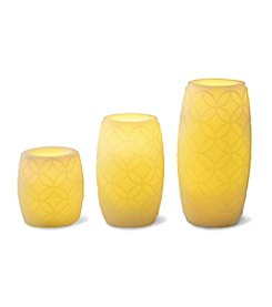Order Home Collection® 3-pc. Embossed LED Candles with Timer