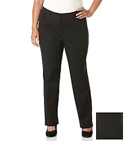 Rafaella® Plus Size Ridge Twill Five Pocket Pants