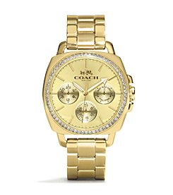 COACH WOMEN'S 40mm GOLD BOYFRIEND SMALL BRACELET WATCH