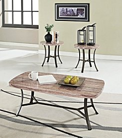 Acme Val White 3-pc. Coffee & End Table Set