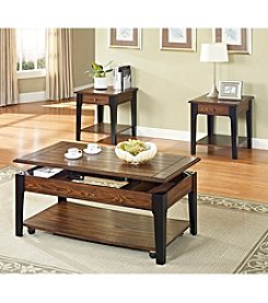Acme Magus Brown Oak & Black Lift-Top Table Collection