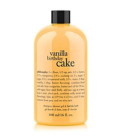 philosophy® Vanilla Birthday Cake Shampoo, Shower Gel & Bubble Bath