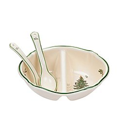 Spode® Christmas Tree Divided Serving Dish And Spoons