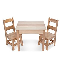 Melissa & Doug® Wooden Table and Chairs Set