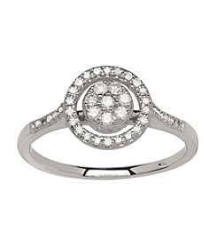 0.25 ct. t.w. Diamond Cluster Ring in 10K White Gold
