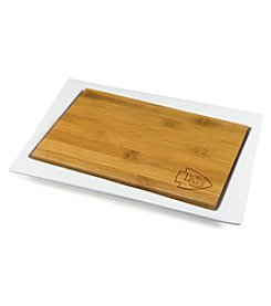 NFL® Kansas City Chiefs Enigma Bamboo Cheese Board Set