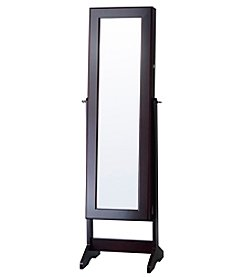 InnerSpace® Cheval Free Standing Mirrored Jewelry Armoire