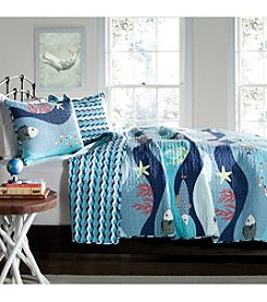 Lush Decor Sealife Quilt Set
