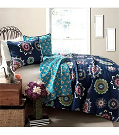Lush Decor Adrianne Navy 3-pc. Quilt Set