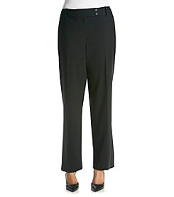 Calvin Klein Plus Size Solid Curvy Fit Pants