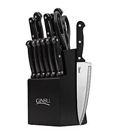 Ginsu® Essential Series 14-pc. Cutlery Set with Black Block