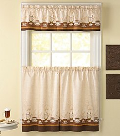 CHF Café Au Lait Tier and Valance Set