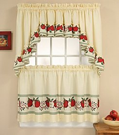 CHF Red Delicious Tier and Swag Valance Set