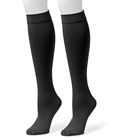 MUK LUKS Women's 2-Pack Fleece Lined Knee High Socks