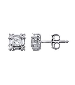 0.33 ct. t.w. Diamond Earrings in 10K White Gold