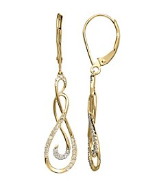 .25 ct. t.w. Diamond Drop Earrings in 10K Gold