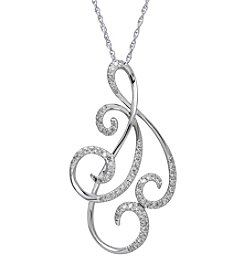 .20 ct. t.w. Diamond Pendant in 10K White Gold