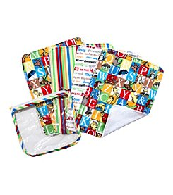 Trend Lab 4-Pack Dr. Seuss Alphabet Burp Cloth Gift Set