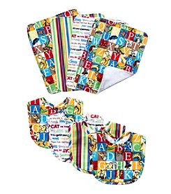 Trend Lab Dr. Seuss Alphabet Bib and Burp Cloth Set