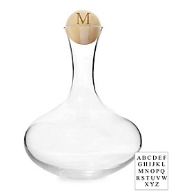 Cathy's Concepts Personalized Large Wine Decanter with Birch Wood Stopper