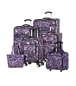 Ricardo Beverly Hills Mar Vista Purple Paisley Luggage Collection