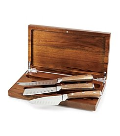 Heritage Collection by Fabio Viviani Legacy® Tridente Set of Three Full Length Cheese Tools in Acacia Box