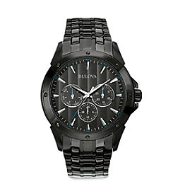 Bulova® Men's Black Ion-Plated Watch