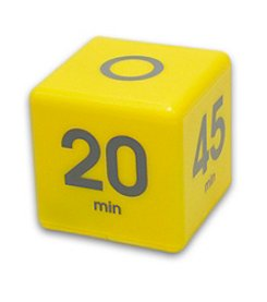 Datexx® Yellow Miracle Cube Timer with 5, 10 , 20, and 45 Minute Preset Times