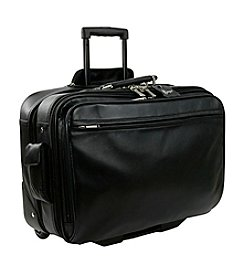 Royce® Leather Executive Rolling Laptop Briefcase Travel Bag