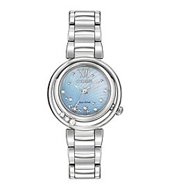 Citizen® Women's Eco-Drive Stainless Steel Diamond Sunrise Watch