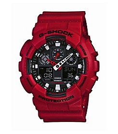 G-Shock Men's Red XL Large Case Analog-Digital Watch