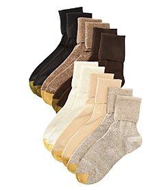 GOLD TOE® Women's 6-Pack Turn Cuff Assorted Socks