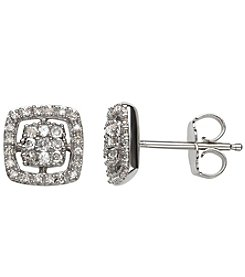 0.20 ct. t.w. Diamond Earrings in Sterling Silver