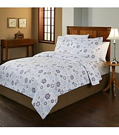Pointehaven Snow Drop UltraSoft Flannel Duvet Set