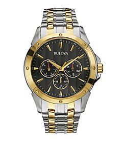 Bulova® Men's Two Tone Multifunction Watch