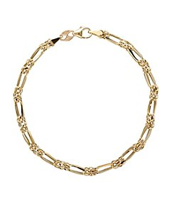 14K Yellow Gold Polished Double Link Bracelet