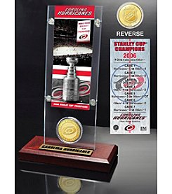 NHL® Carolina Hurricanes Stanley Cup Champions Ticket and Bronze Coin Desktop Acrylic