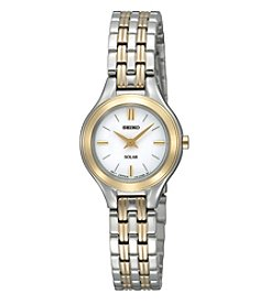 Seiko® Women's Two-Tone Stainless Steel Classic Solar Watch