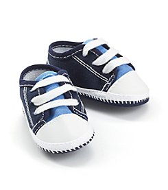 Cuddle Bear® Baby Boys' Blue & White Canvas Sneakers