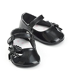 Cuddle Bear® Baby Girls' Black Patent Skimmer
