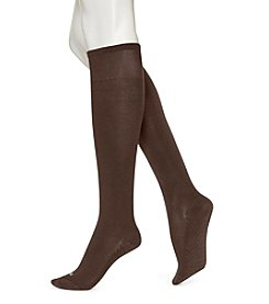 HUE® Espresso Massaging Sole Knee Socks