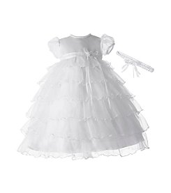 Lauren Madison® Baby Girls' Organza Ruffle Christening Dress