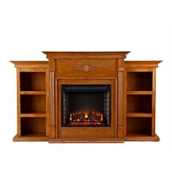 Southern Enterprises Douglas Electric Fireplace with Bookcases
